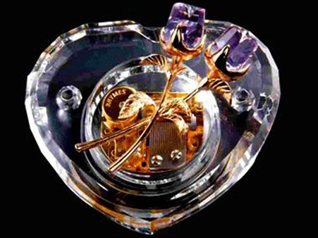 Heart Crystal Music Box