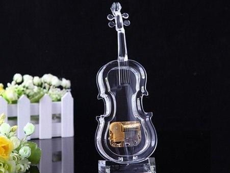 Violin Acrylic Music Box