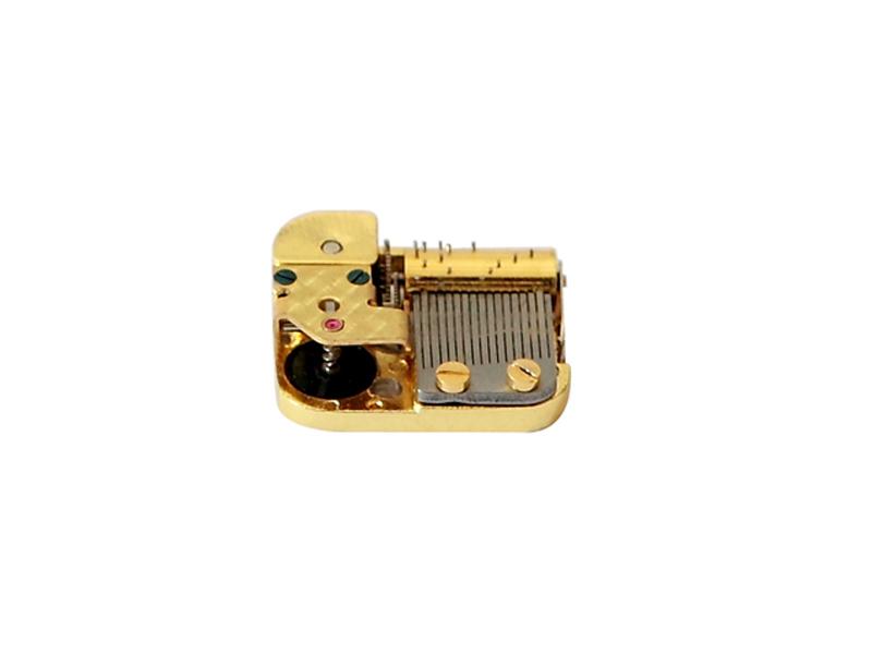 Super mini wind up 17-note antique movement music box mechanical