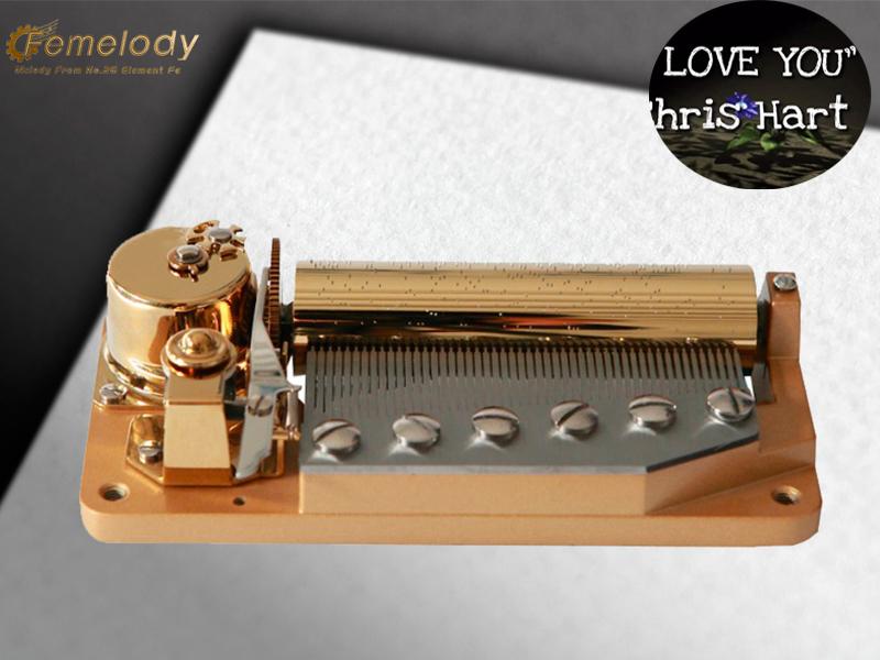 Luxury 50 note music movement mechnism custom tune I LOVE YOU-Chris Hart