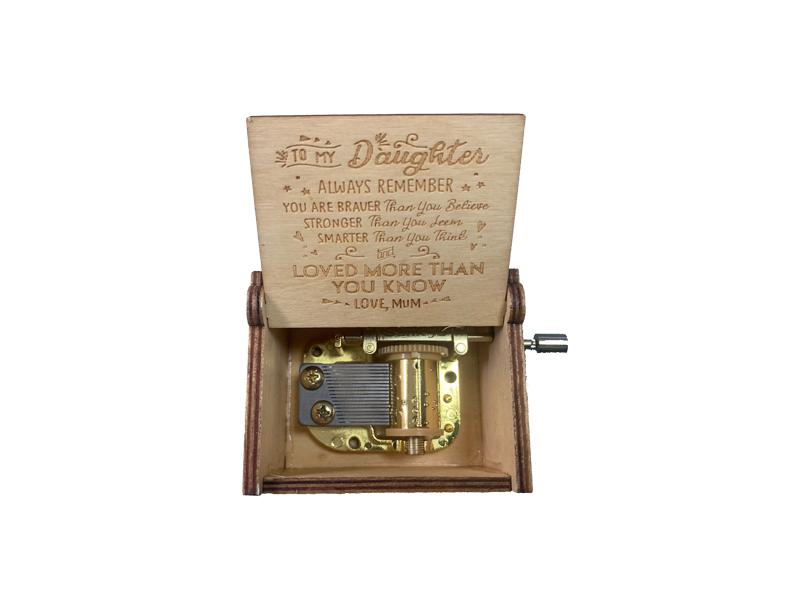 Make your own hand crank wood music box