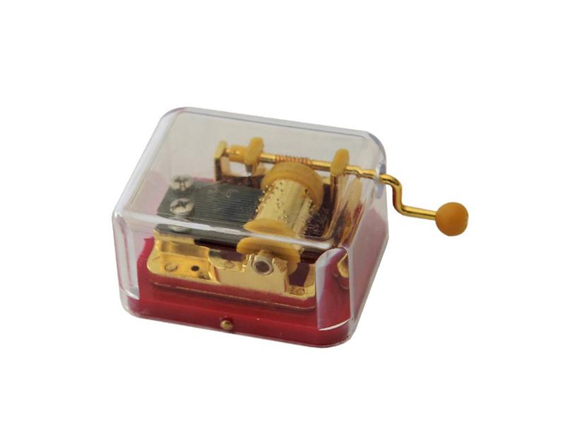 Cheap Transparent Handcrank Music Boxes