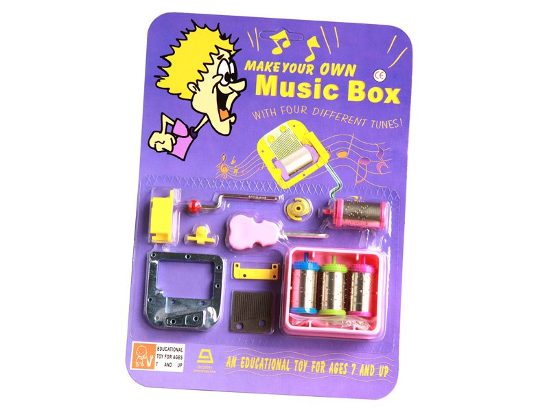 Hand crank DIY music box toy kits