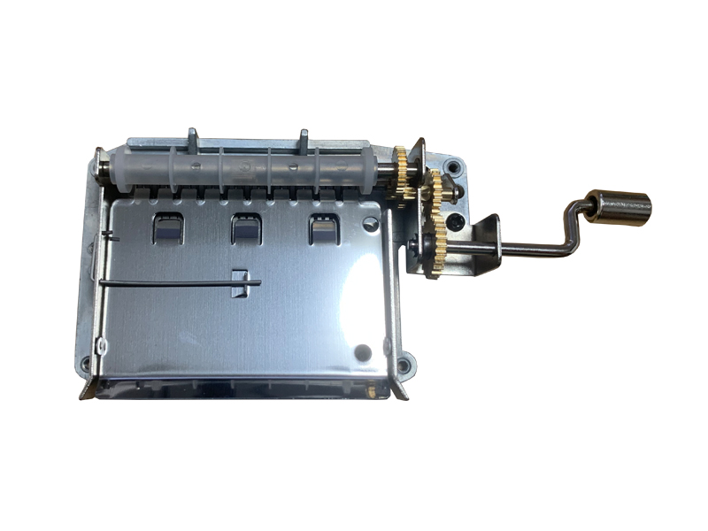 30 note hand crank paper strip music mechanism with brass gear