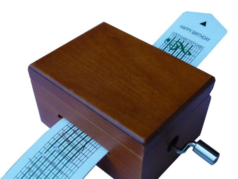 Paper Strip Wooden Music Box