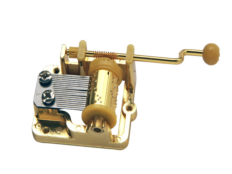Golden Colour Hand Cranked Musical Mechanism